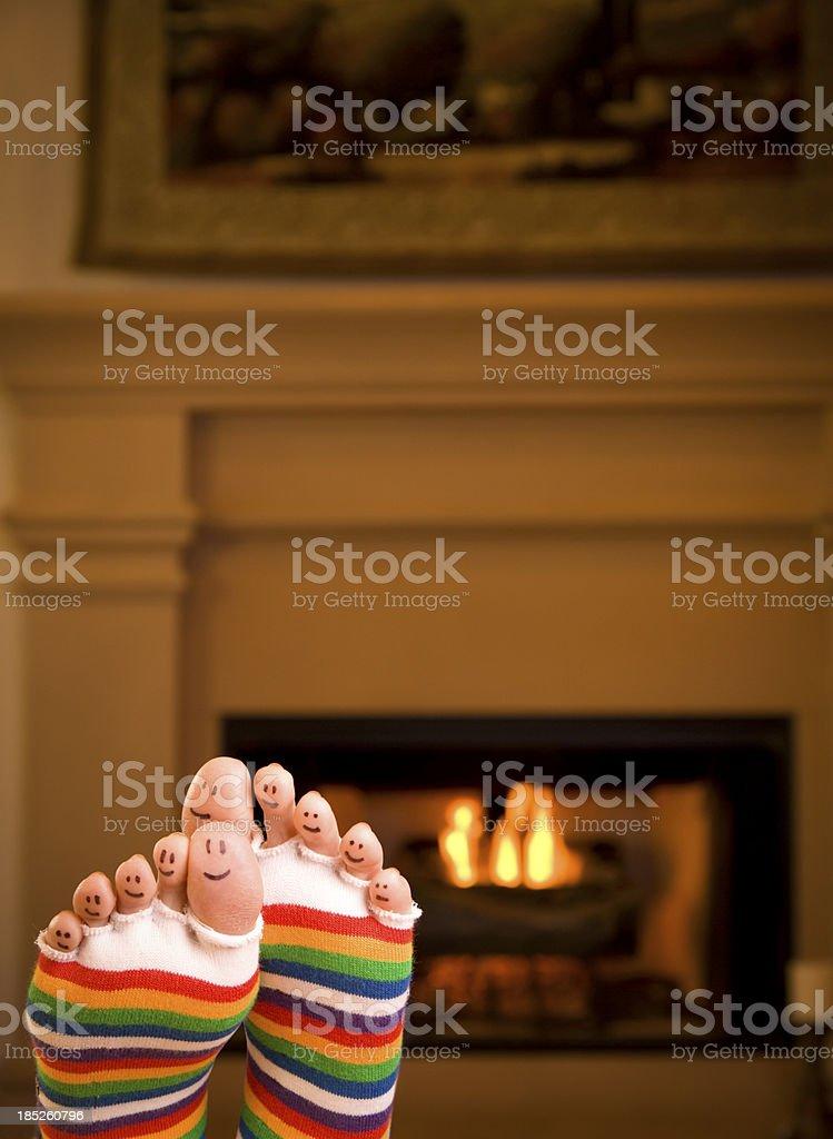 Warm Happy Feet royalty-free stock photo