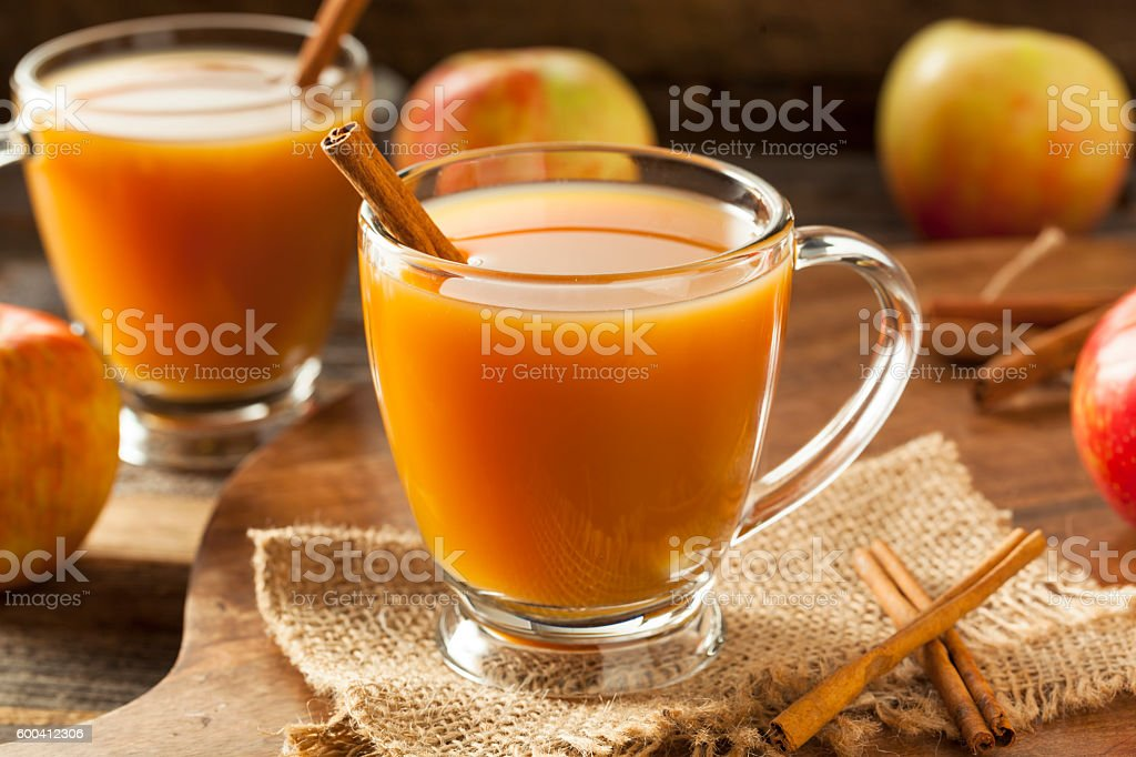 Warm Hot Apple Cider stock photo