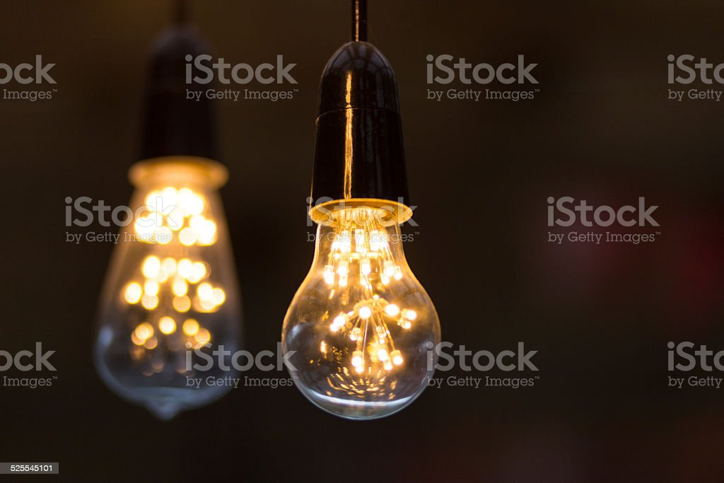 Warm LED light bulbs. royalty-free stock photo