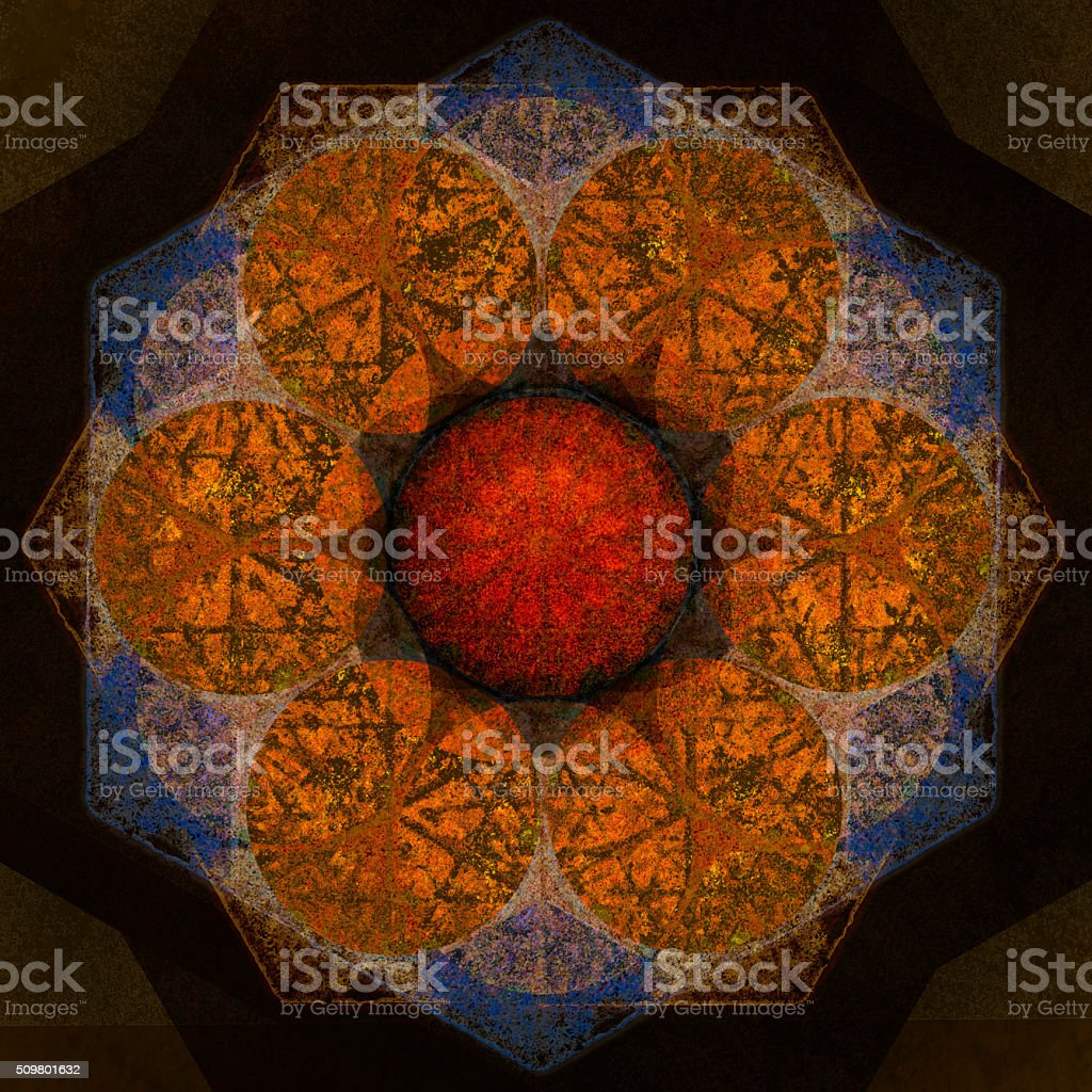 Warm Mandala stock photo