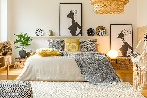 istock Warm modern bedroom interior 961081604