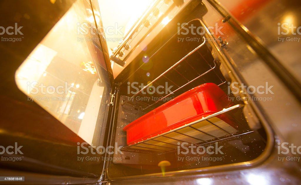 warm oven glow stock photo