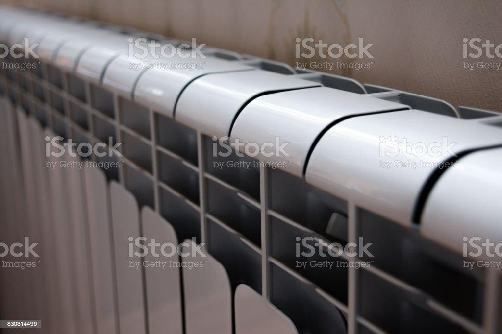 Warm radiator stock photo
