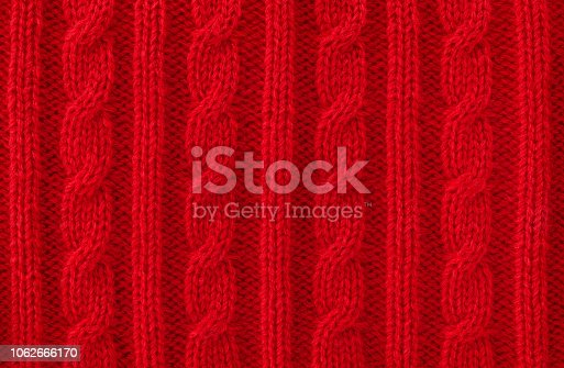 Cable knit wool close-up