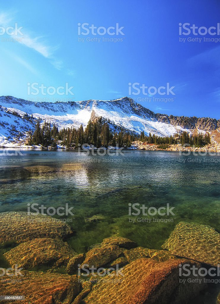 Warm Rocks Under the Surface stock photo