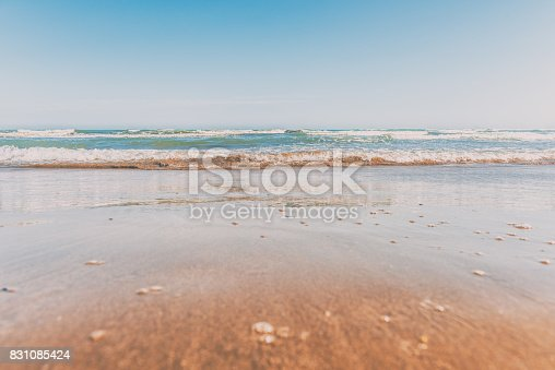 Warm sea beach
