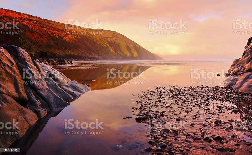 Warm sea scape stock photo
