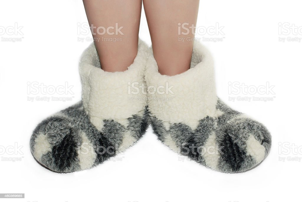 Warm slippers royalty-free stock photo