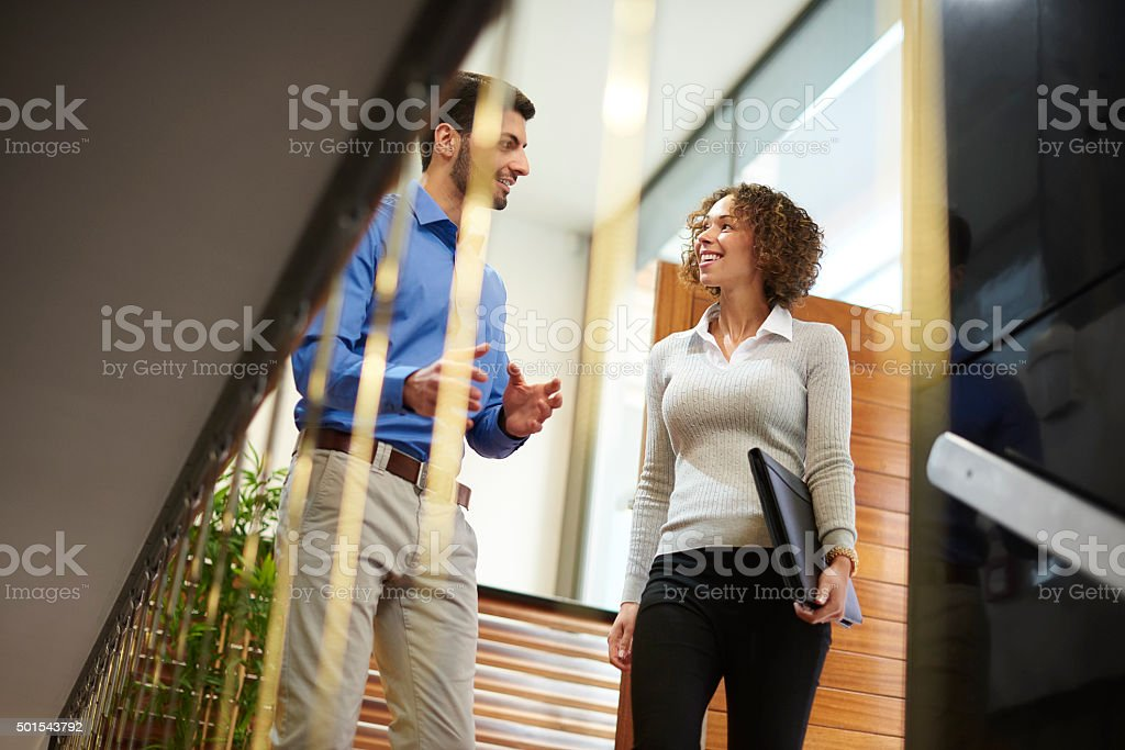 warm welcome to the office stock photo