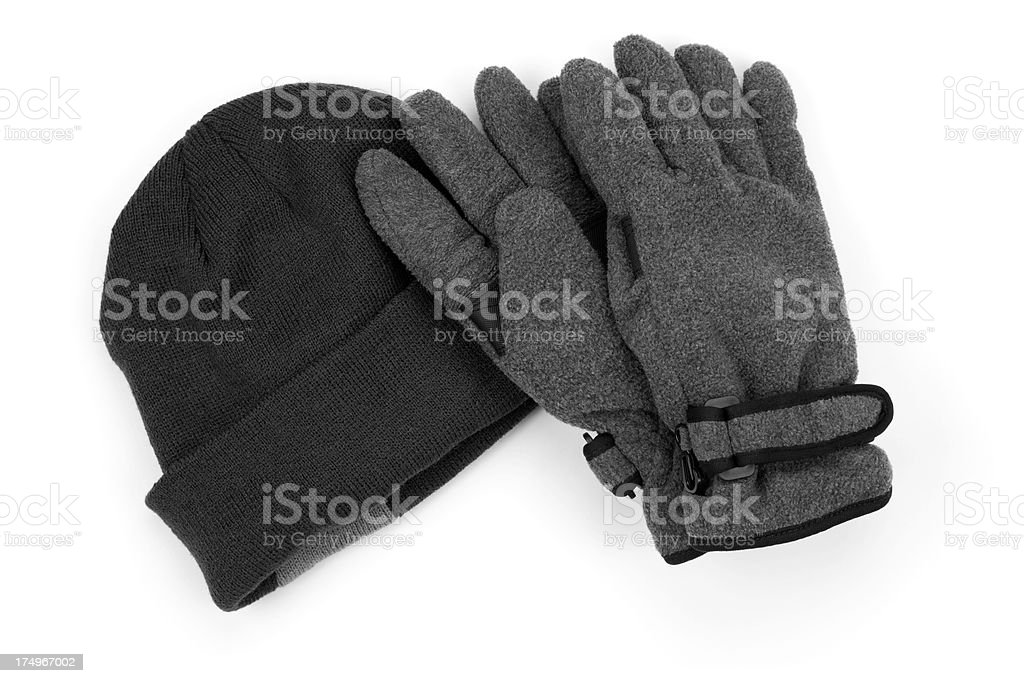 Warm Winter Gloves and Hat royalty-free stock photo