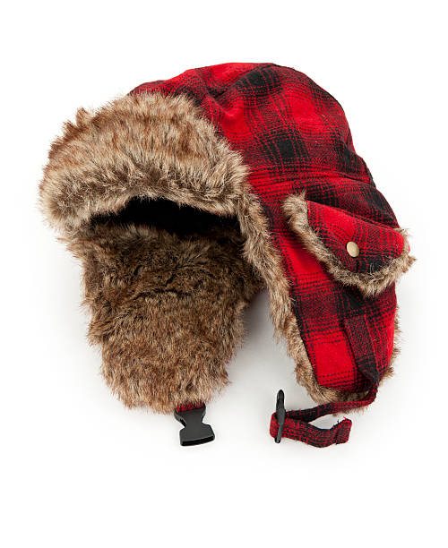 """Warm Winter Hat """"Warm winter fur hat, isolated on white.Please also see:"""" knit hat stock pictures, royalty-free photos & images"""