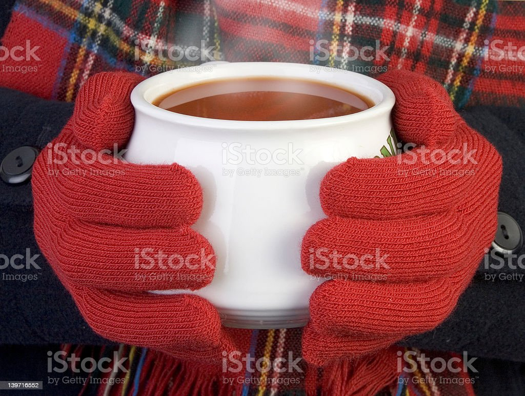 warming cup of soup royalty-free stock photo