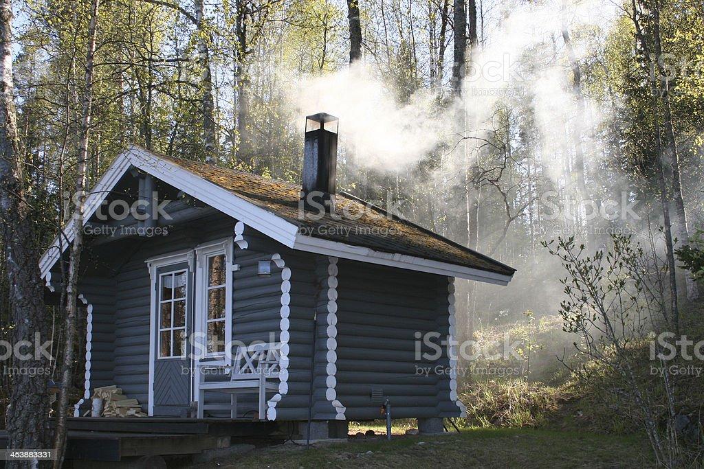 Warming the Sauna stock photo