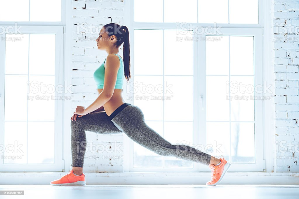 Warming up before training. royalty-free stock photo