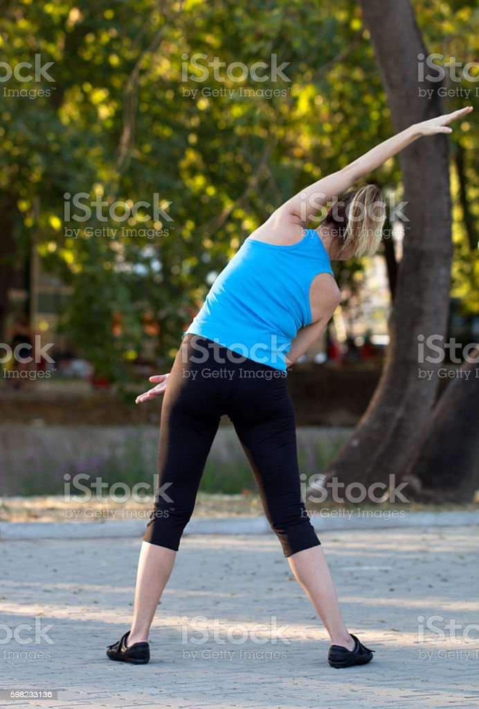 Warming up in Park foto royalty-free