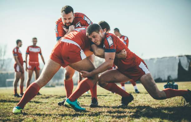 aufwärmen - rugby stock-fotos und bilder