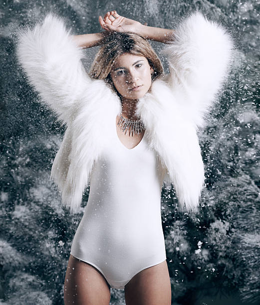 warming up the winter - leotard stock photos and pictures