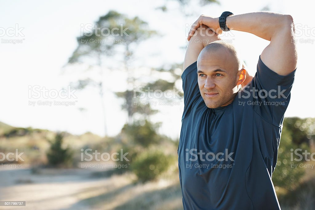 Warming up those muscles stock photo