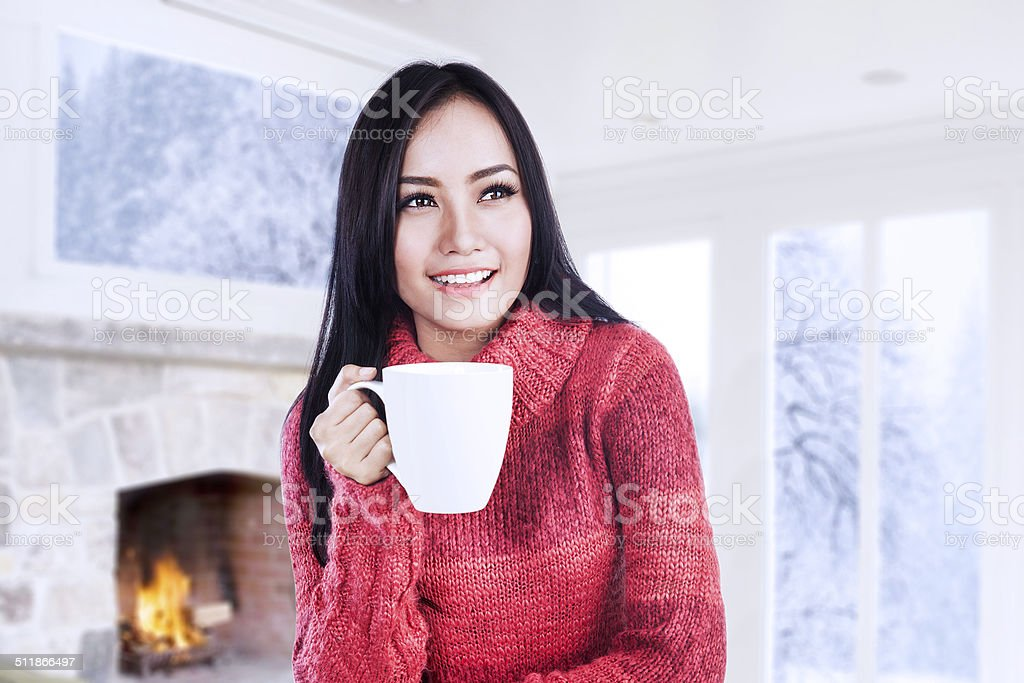 Warming Up With Coffee stock photo