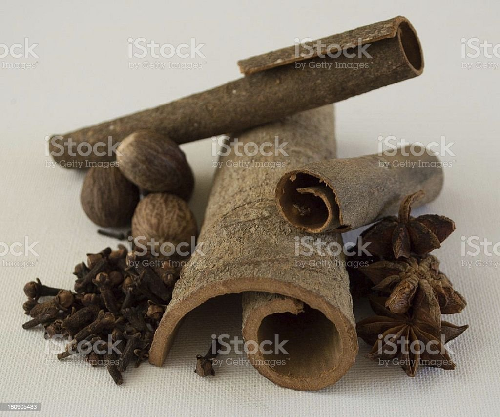 Warming winter spices royalty-free stock photo