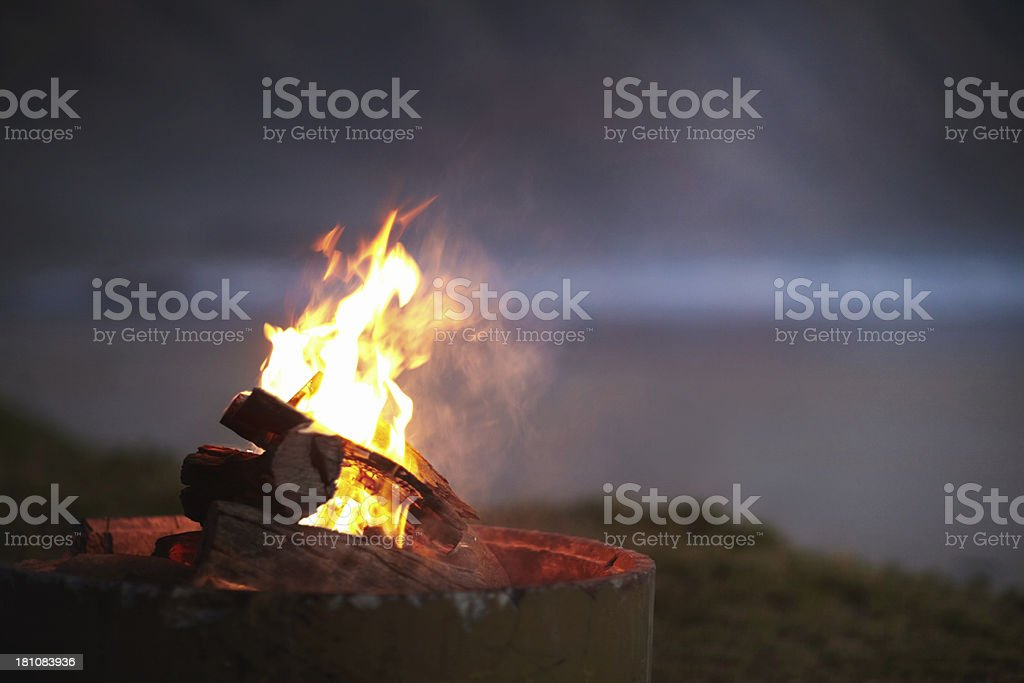 Warmth in the night royalty-free stock photo