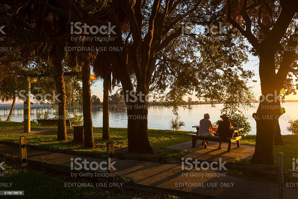 Warmth of a Florida sunset stock photo