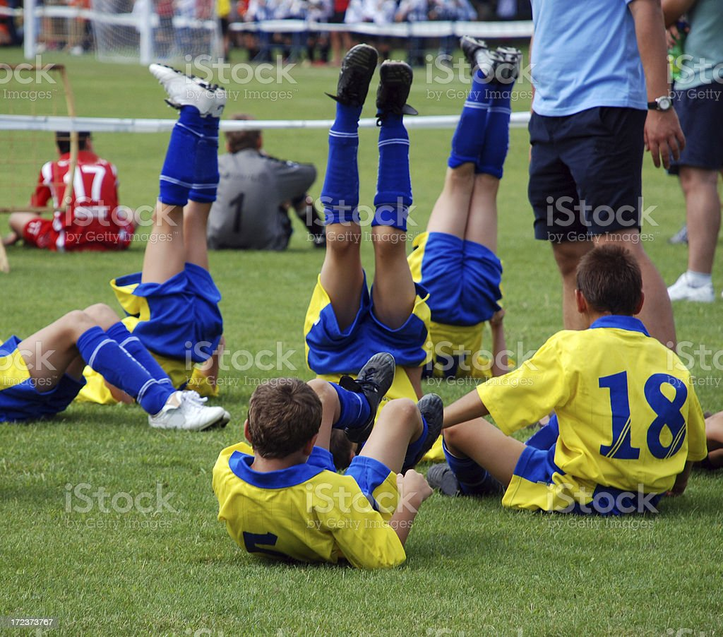 warm-up before match royalty-free stock photo