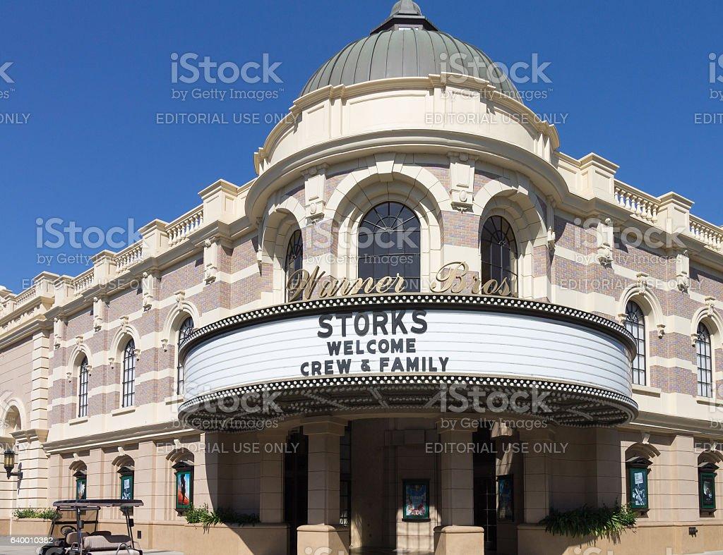 Warner Bros Theater stock photo