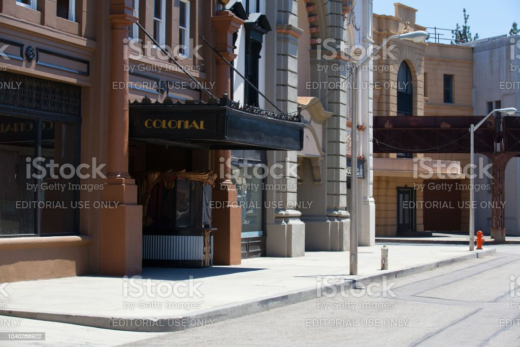 Warner Brothers Studios in Burbank,Los Angeles. stock photo