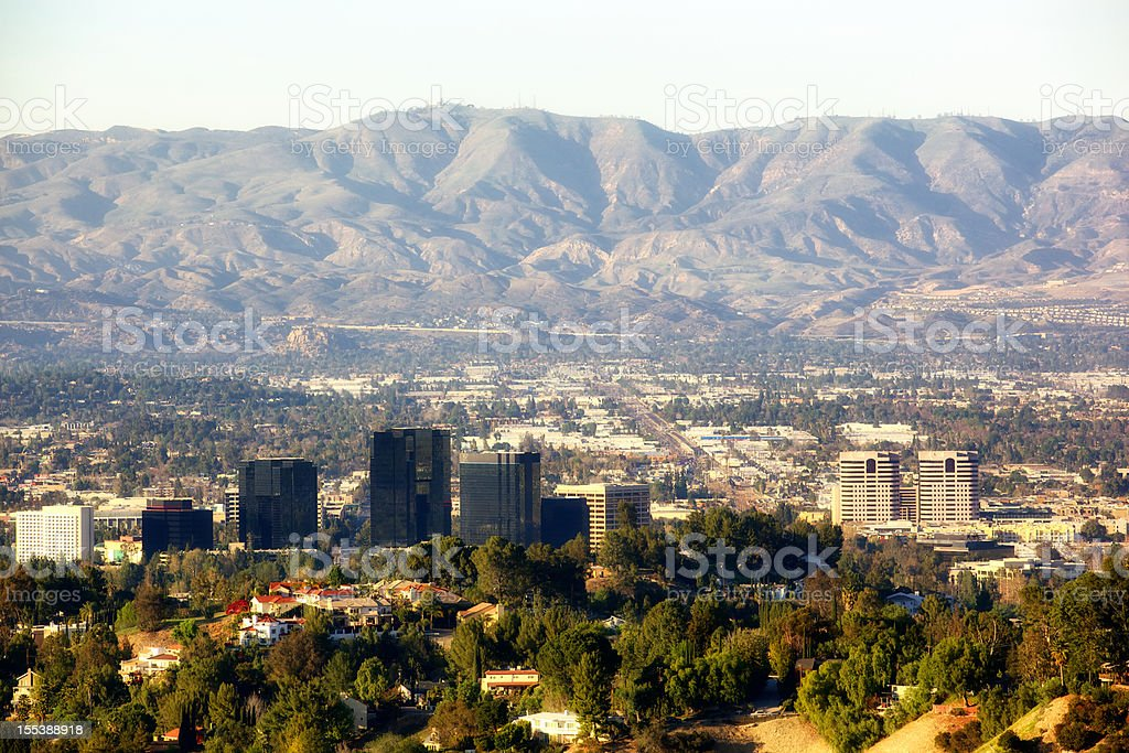 Warner Center in San Fernando Valley Los Angeles California stock photo