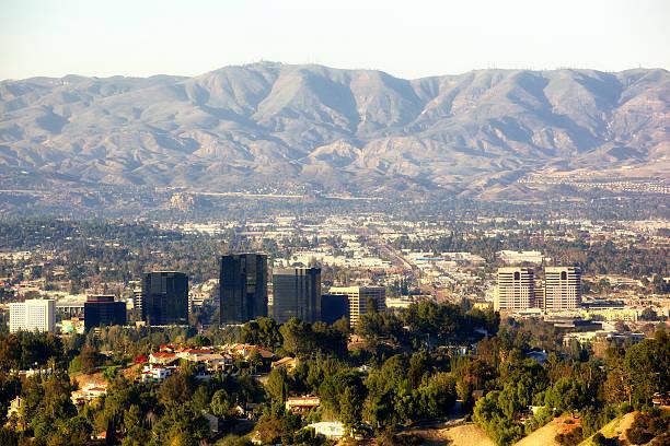 warner center in san fernando valley los angeles california - san fernando valley stock photos and pictures