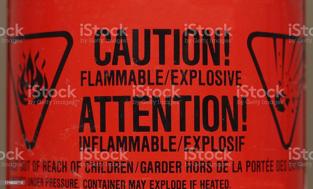 warning 6 stock photo