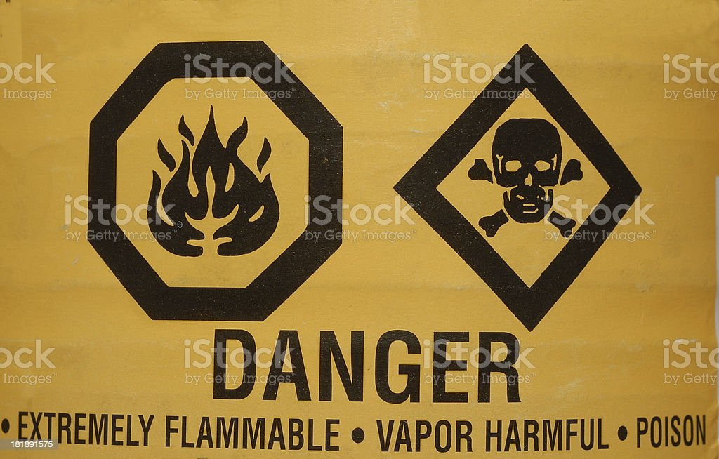 warning 8 stock photo