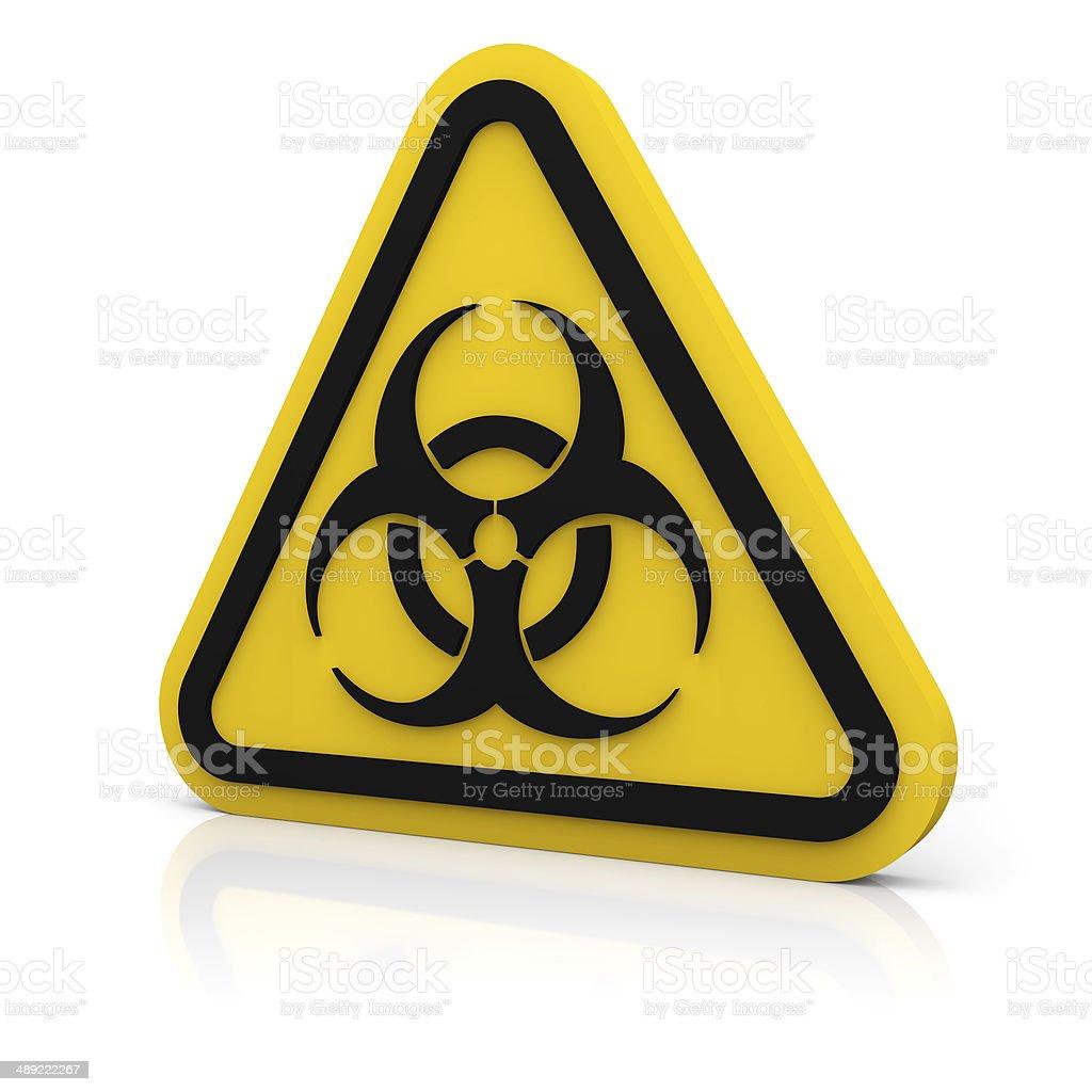 Schild Warnung Biologische Gefährdung – Foto