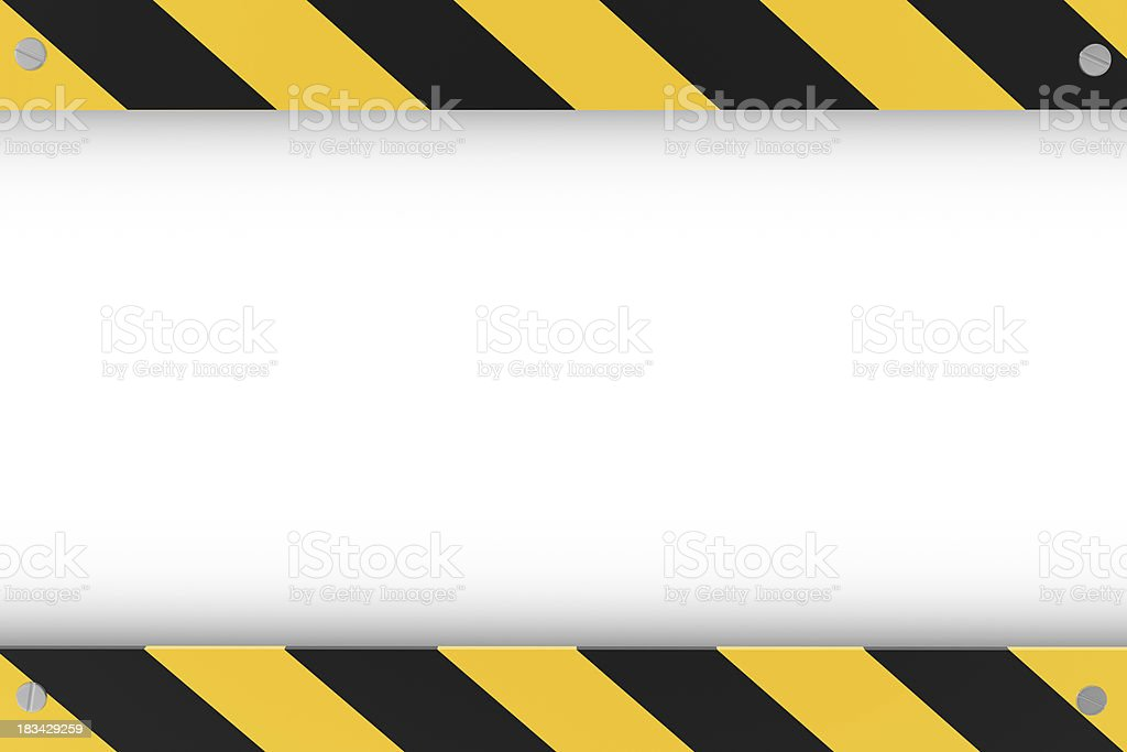 Warning Blank Sign stock photo