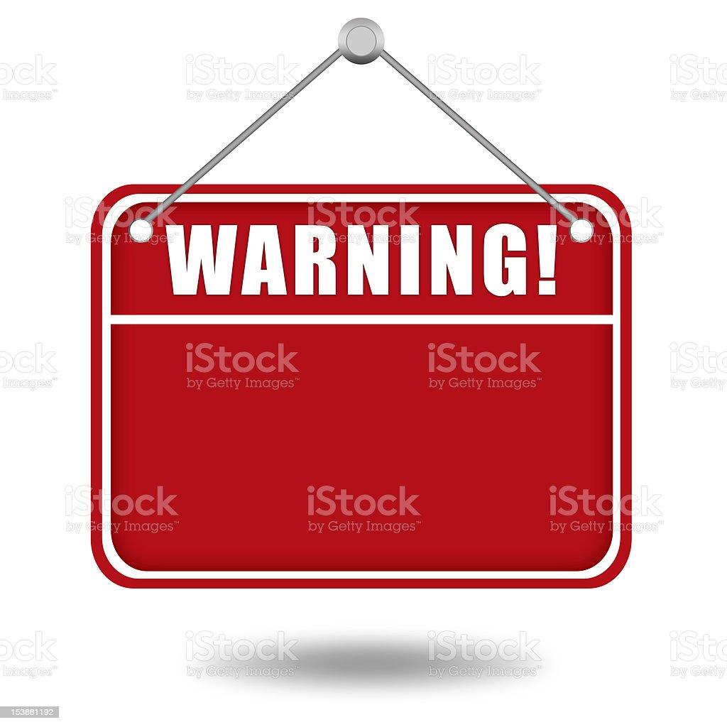 Warning board stock photo