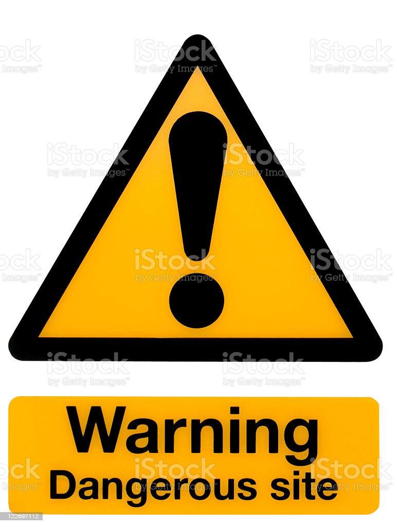 Warning, Dangerous Site royalty-free stock photo