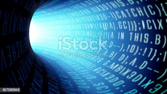 istock Warning: Data transfer in progress 507065943