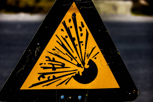 Warning explosion Sign warning explosion explosive stock pictures, royalty-free photos & images