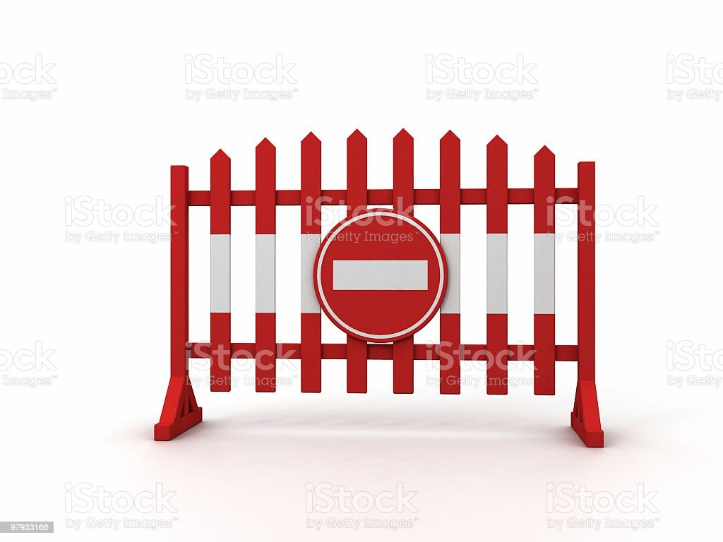 warning fence royalty-free stock photo