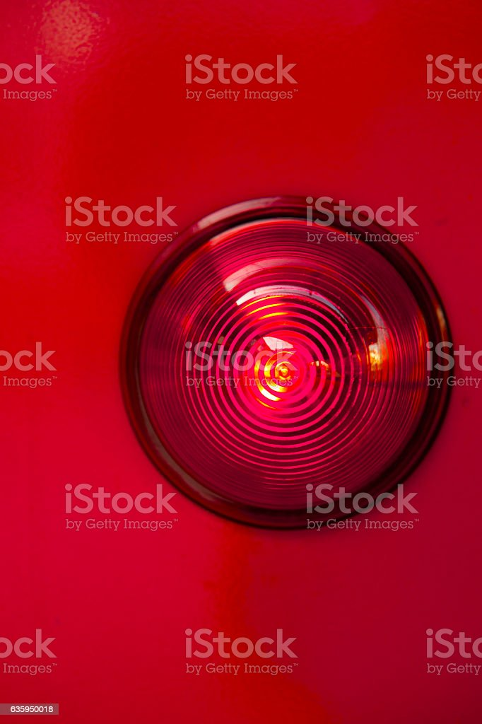 warning lamp stock photo