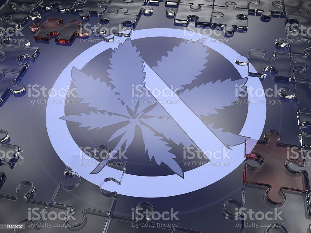 Warning Marijuana royalty-free stock photo