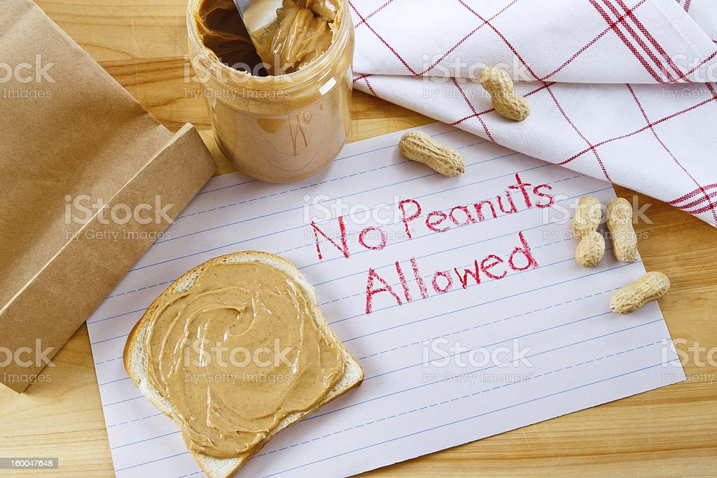 Warning - No Peanuts Allowed royalty-free stock photo