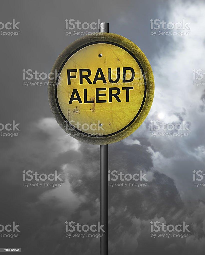 Warning of Fraud stock photo
