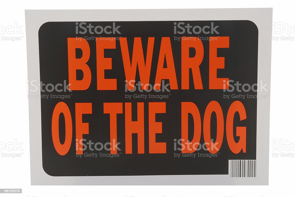 Warning royalty-free stock photo