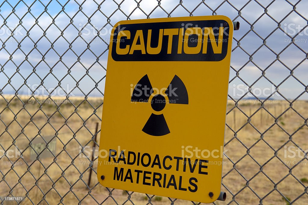 Warning Radioactive Materials! stock photo