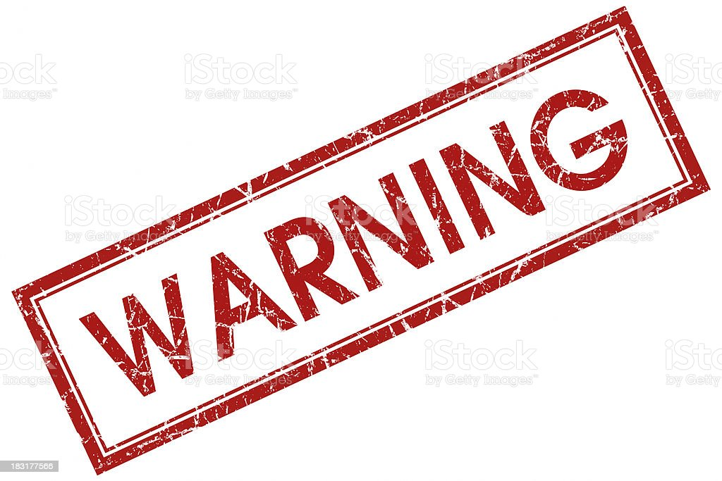 warning red stamp royalty-free stock photo