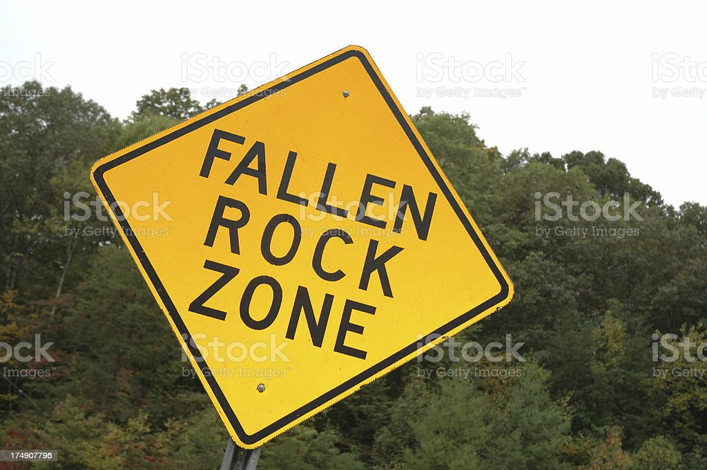 Warning - Rock royalty-free stock photo