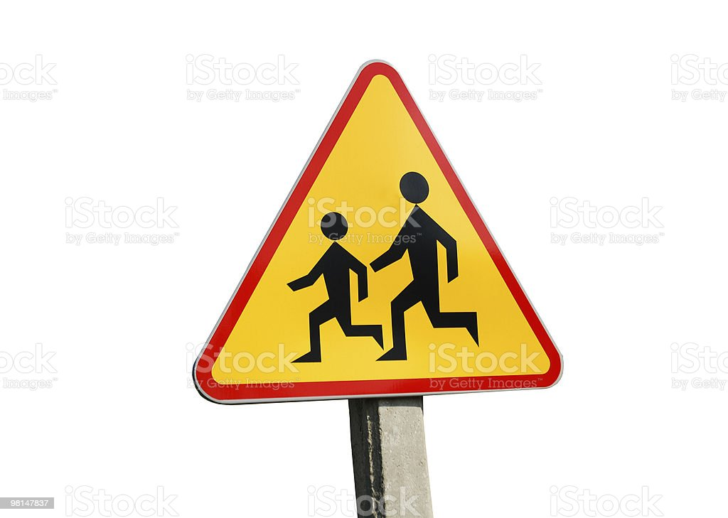 warning school sign royalty-free stock photo