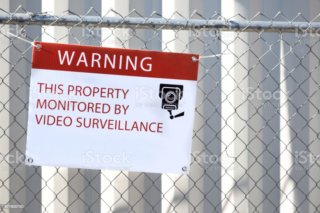 Warning Sign at a Construction Site stock photo
